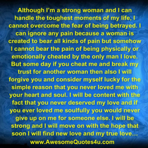 Awesome Quotes: I'M A STRONG WOMAN
