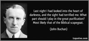 ... ? Most likely that of the Biblical scapegoat. - John Buchan