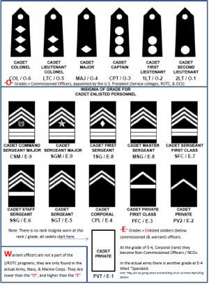 army jrotc ranks test