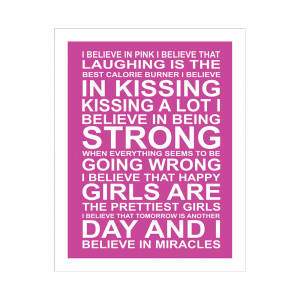 Audrey Hepburn Quote I Believe In Pink Custom audrey hepburn quote.
