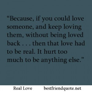 Real Love Best Friend Quotes