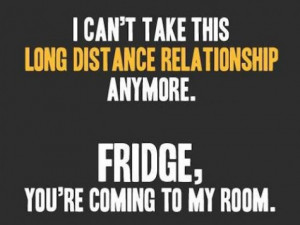 have a love hate relatinship with my fridge