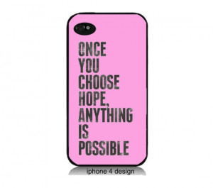 Iphone 5 case Breast Cancer Hope Quote by IPhone4Design on Etsy,