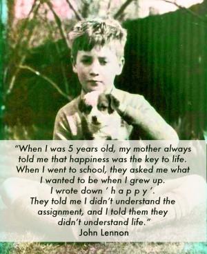 John Lennon quote -