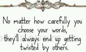 Twisted words