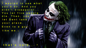 Joker quote from the Dark Knight by MadRicanStudios