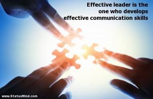 Effective Communication Quotes Effective communication