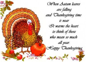Happy Thanksgiving Cards, Sayings, Poems