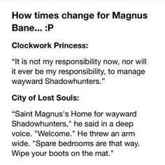 funny magnus bane quotes - Google Search More