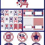 ... July 4th Party Set from LDS Printables, featured @printabledecor1
