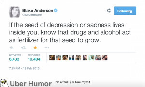 Blake Anderson on Drugs and Depression | Funny Pictures, Quotes, Pics ...