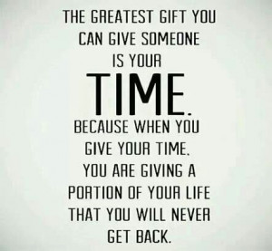 Greatest Gift - Time