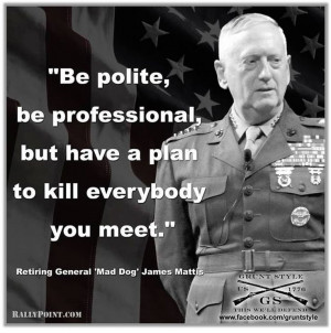 """... INCORRECT QUOTES of General """"Mad Dog"""" Mattis: GREAT STUFF"""