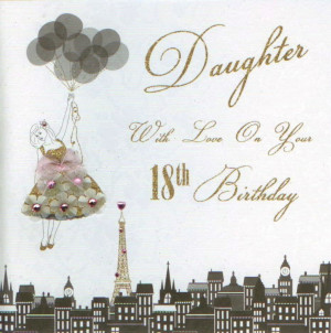 Daughter 18th Birthday Card by Five Dollar Shake