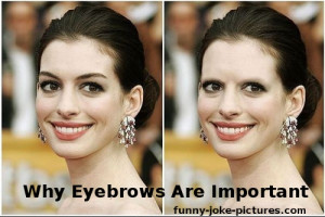 Funny Anne Hathaway Why Eyebrows Are Important Picture