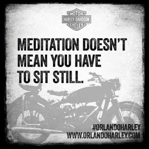 Quote of the day: Meditation doesn't mean you have to sit still. # ...