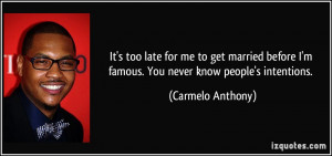 Carmelo Anthony Quote