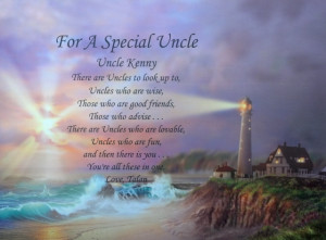 Details about FOR A SPECIAL UNCLE PERSONALIZED POEM BIRTHDAY GIFT