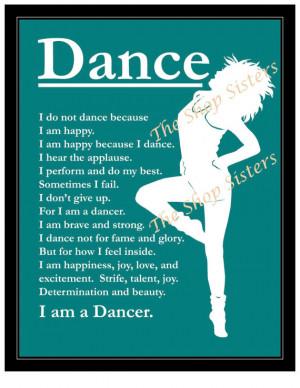 Jazz Dance Quotes 8 x 10 jazz modern dance