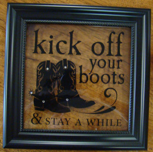 ... black frame with glass western sayings with crystal bling very cute
