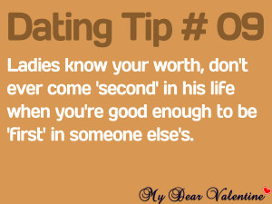 Cute love quotes - Ladies know your worth, don't