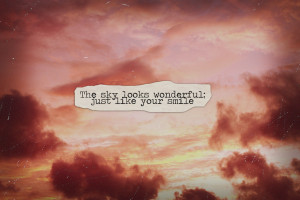 clouds, quote, sky, text, vintage