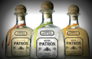 Patron Tequila Bottle Happy