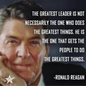 Ronald Reagan Quotes on leadership