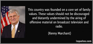 This country was founded on a core set of family values. These values ...