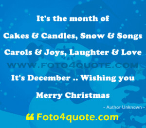 December 1 Christmas Quotes ~ Christmas cards – It's month of cakes ...