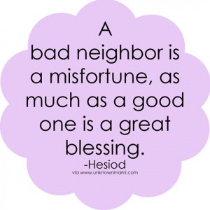 Bad Neighbor (Open Letter)