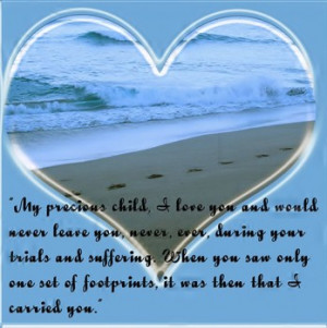 Footprints in the Sand is an amazing poem. This Mother's Day can bring ...