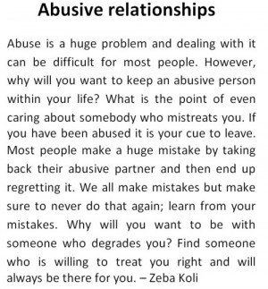 Abusive Relationship Quotes...