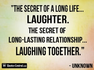 secret of a long life laughter the secret of long lasting relationship ...