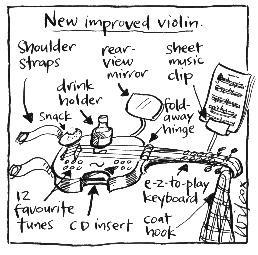 Violin Cartoon Change something that has