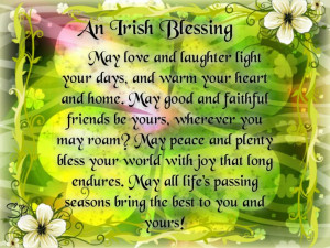 irish quotes and sayings | an irish blessing may love and laughter ...