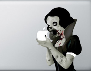 Zombie Snow White MacBook Sticker