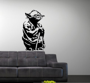 Vinyl Wall Art Decal Star Wars Yoda