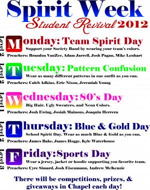 School Spirit Week Graphics