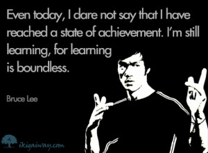 Bruce Lee – Learning
