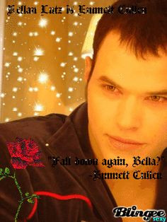 Emmett Cullen (Kellan Lutz) with Eclipse quote
