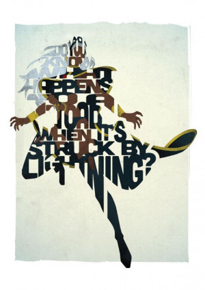 Storm typography print based on a quote from the by 17thandOak, £15 ...