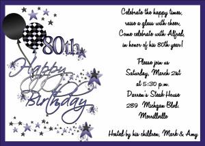 adult birthday invitations 80th birthday bash abi158