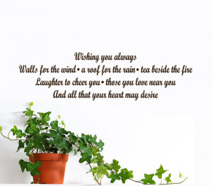 New Home Quotes Blessings Irish blessing vinyl wall
