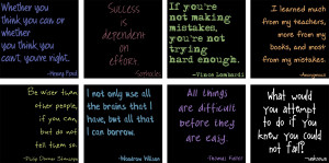 addition to mathy type stuff, I also have a collection of good quotes ...
