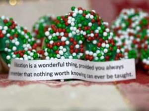 Festive Fortune Cookies - Christmas Treats