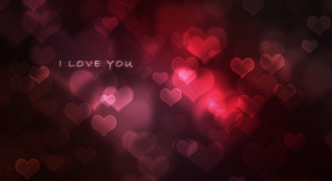 love you quote full of red hearts