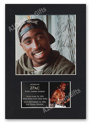 2Pac Signed Mounted Photo Display #1 Tupac Autographed Music