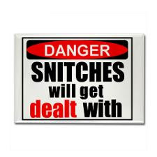 Stop snitchin' Rectangle Magnet for