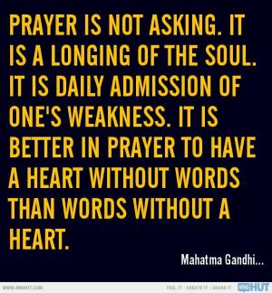 Prayer Is Not Asking.